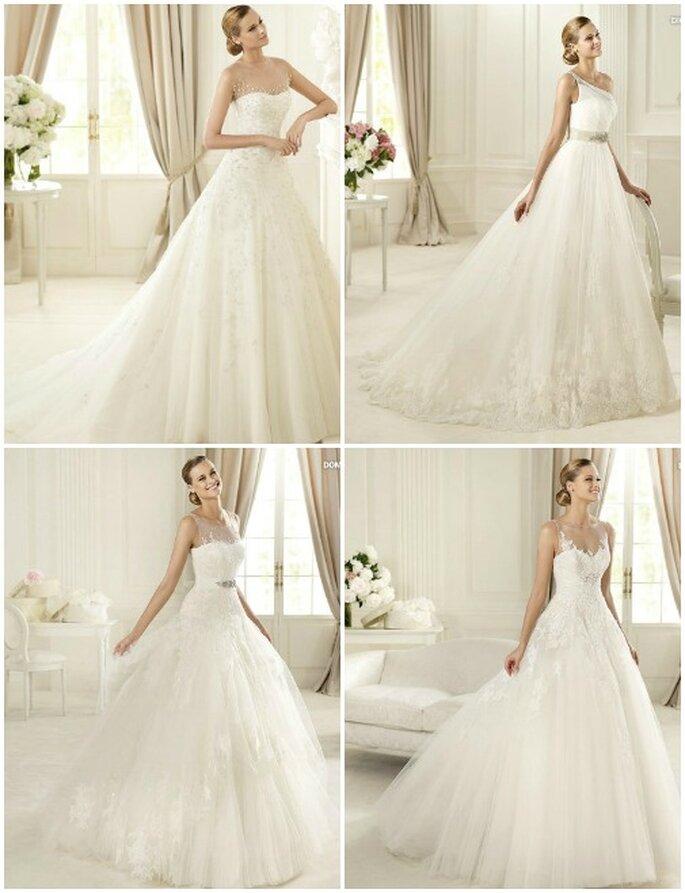Altri modelli della nuova Collezione 2013 di Pronovias presentata al Barcelona Bridale Week. Foto: www.pronovias.com