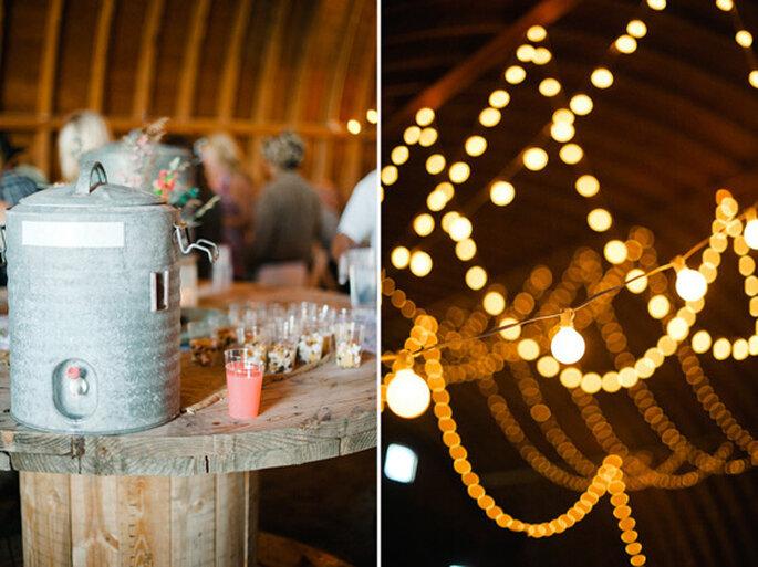 El lugar de la fiesta de boda también deberá ser rústico. Foto: Jeff Sampson Photography