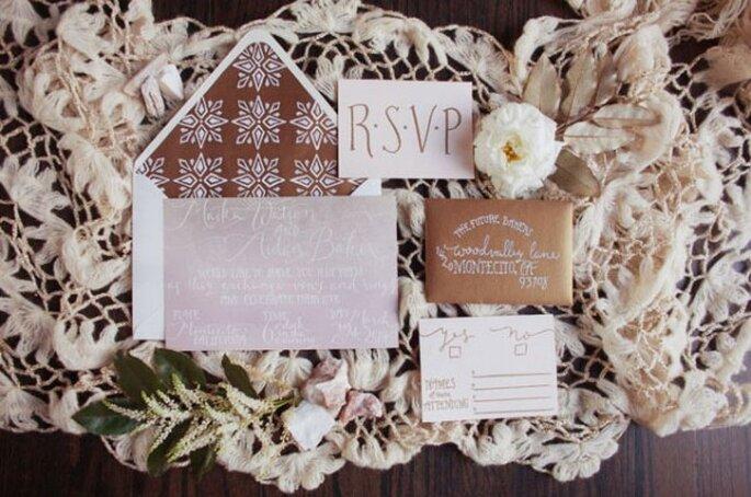 Real Wedding: Una boda en colores tierra y detalles de macramé - Foto Love is a Big Deal
