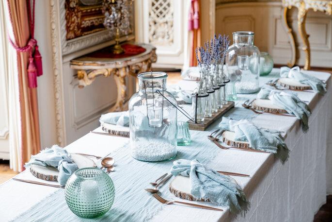Tablecloth Hire Gauze Tischdekoration Hochzeit