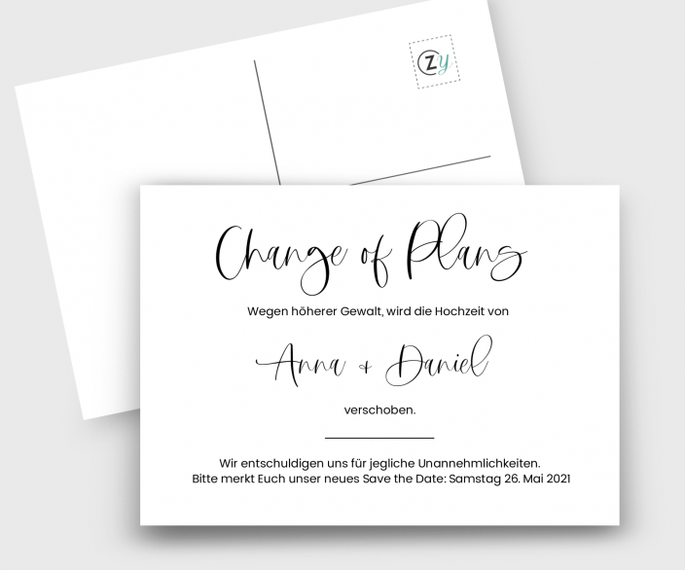chnage of plan card