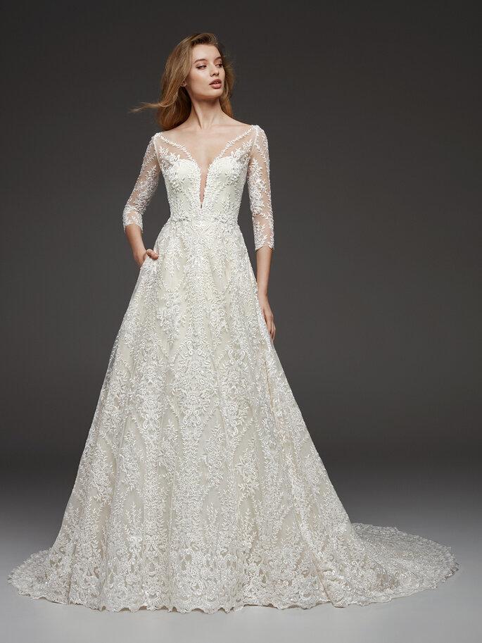 Vestidos de novia corte A