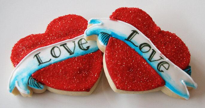 Corazones con el mensaje de amor. Foto: Whipped Bakeshop