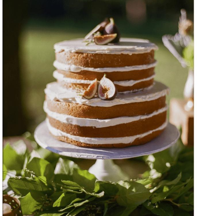 El naked cake, la tendencia más deliciosa en pasteles de boda - Foto Bamber Photography