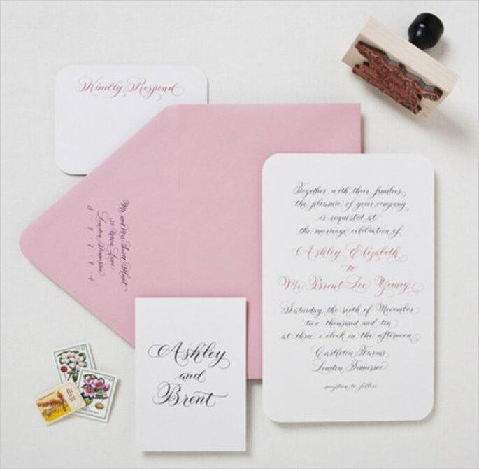 Invitaciones de boda en el #MartesDeBodas. Palomasnest.com