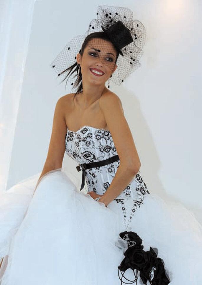 uk availability 4b799 faa95 L'abito da sposa della settimana: un tocco di nero con ...