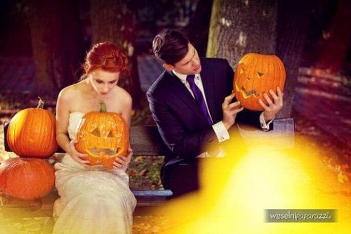 Sesión de fotos de boda inspirada en Halloween - Foto Weselni Paparazzi