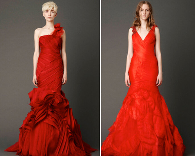 Robes de mariée de couleur rouge - Photographies: Vera Wang 2012