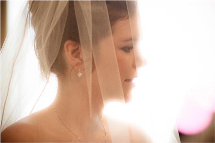 Braut Susan, verschleiert. - Foto: Torsten Hufsky