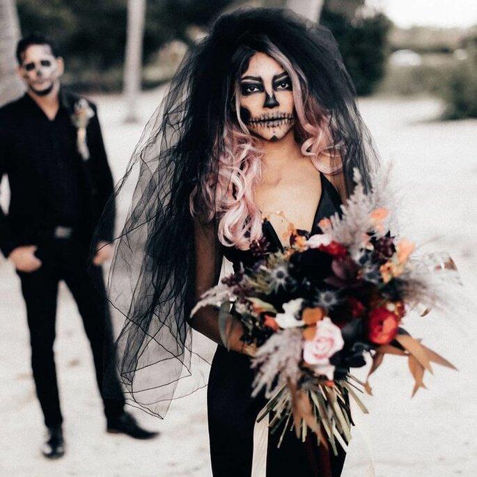 Halloween Braut geschminkt