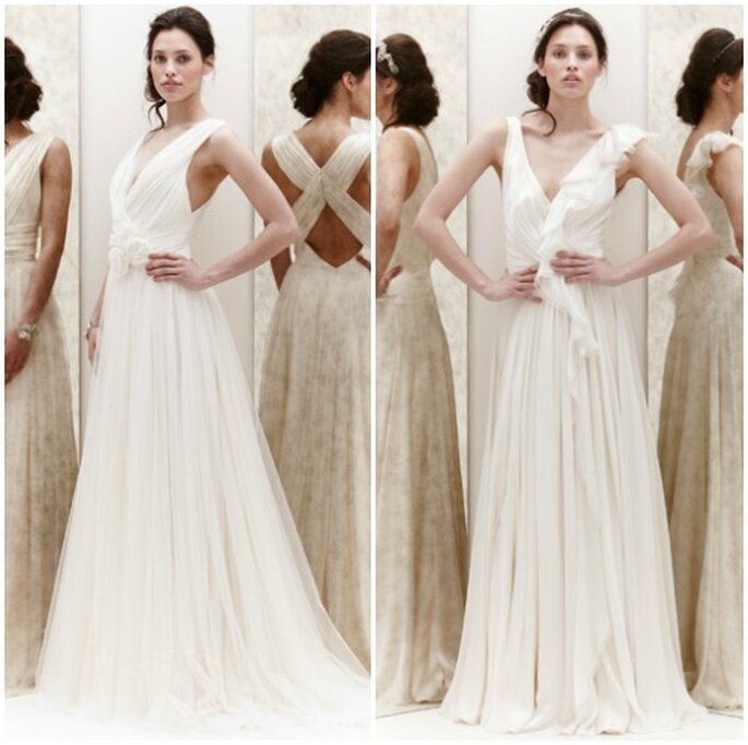 """Per un abito da sposa """"reale"""" scegliete lo chiffon drappeggiato di Jenny Packham Bridal Collection 2013. Foto: www.jennypackham.com"""