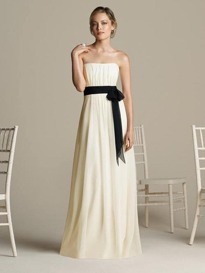 Vestido para damas de honor marfil de Bello Dress