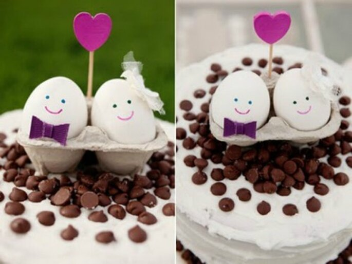 A chaque couple de mariés, son cake topper ! Source : Un simple reve