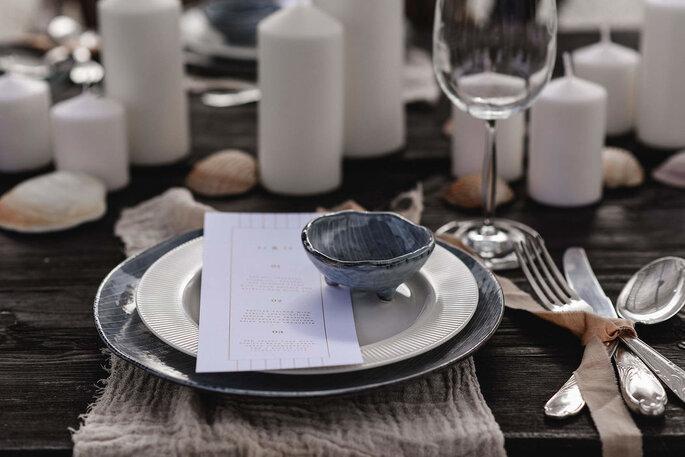 Minimal Boho Tischdekoration