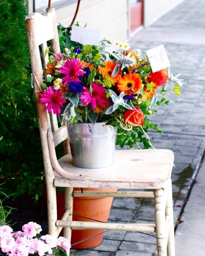 Hermosa decoraci n para boda de macetas con flores for Adornos para macetas