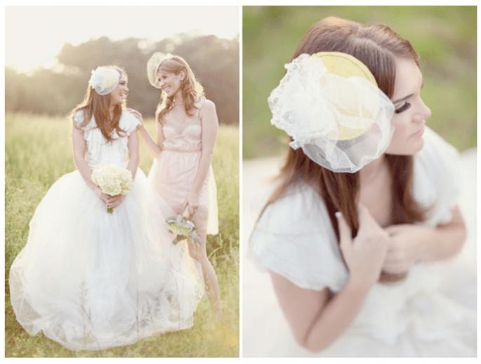 Cómo elegir el mejor tocado de novia - Foto Simply Bloom