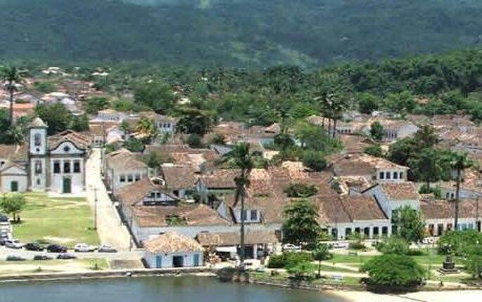 Vista panorámica de la ciudad de Paraty en Rio de Janeiro - Brasil
