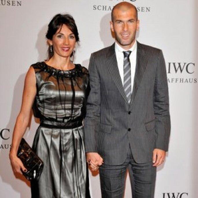 Zinedine Zidane y Veronique