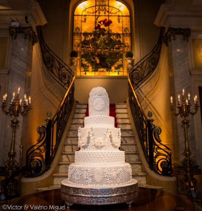 Bolo clássico em vários andares