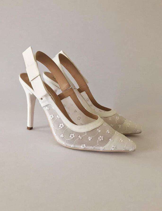 Paulina C Menendez zapatos novia