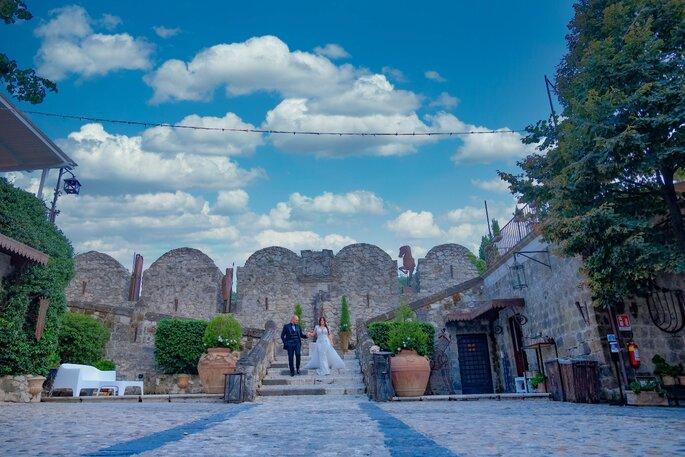 Castello di Limatola - neosposi scale