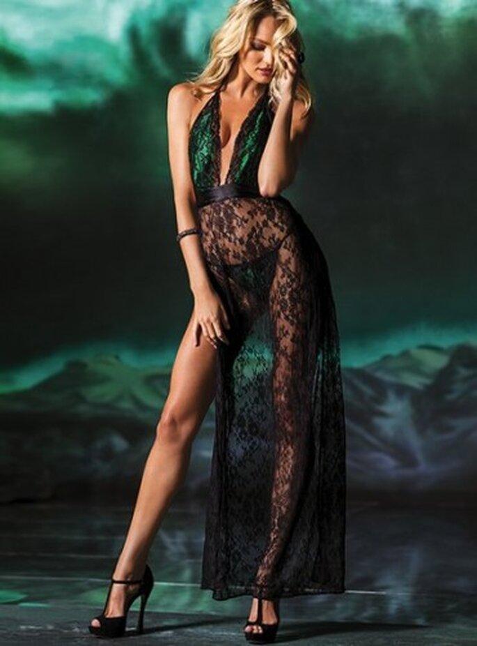 Camisón de encaje de edición limitada. Foto de Victoria's Secret