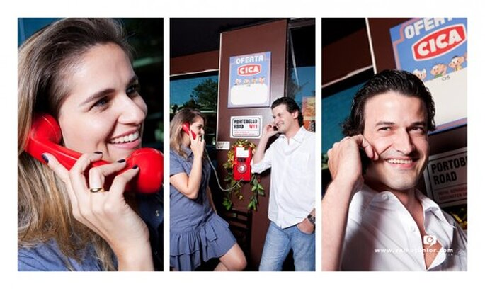 Amor a distancia y la boda por internet. Fotografía Velho Junior