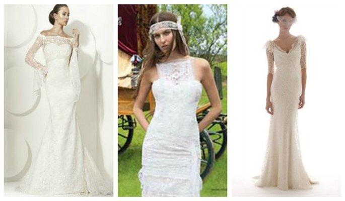 Tres propuestas para Romina. Vestidos de Franc Sarabia, Yolan Cris y  Elisabeth Fillmore
