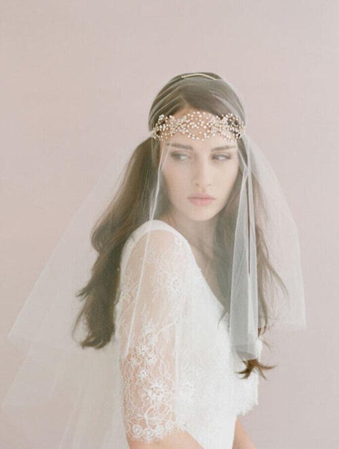 Peinados de novia con pelo suelto