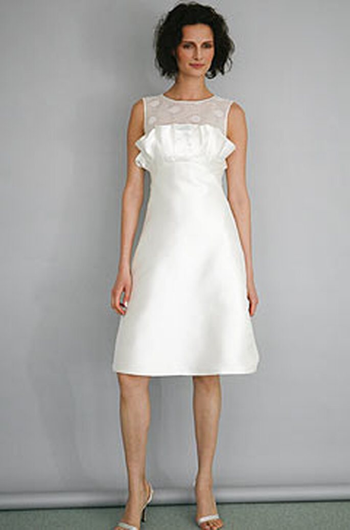 Vestido de novia corto Ángel Sánchez