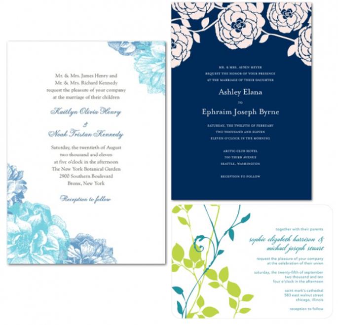 Invitaciones de boda coloridas para primavera 2013 - Foto Wedding Paper Divas