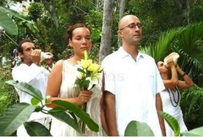 Es celebrada por un chamán, su objetivo es unir la pareja de manera espiritual.