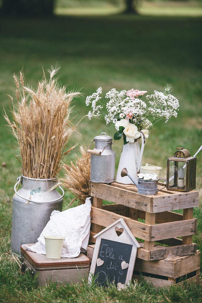 décoration champêtre-mariage en Indre-et-Loire