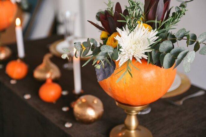 calabazas para decorar boda halloween