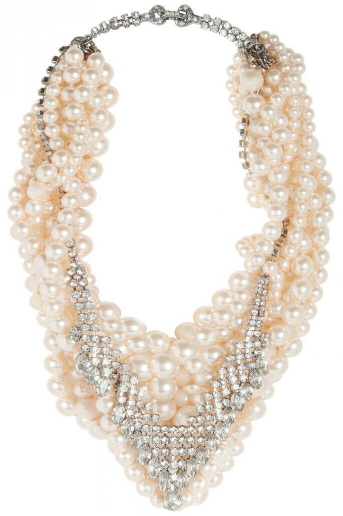 Statement necklaces para novia en tendencia - Foto Tom Binns