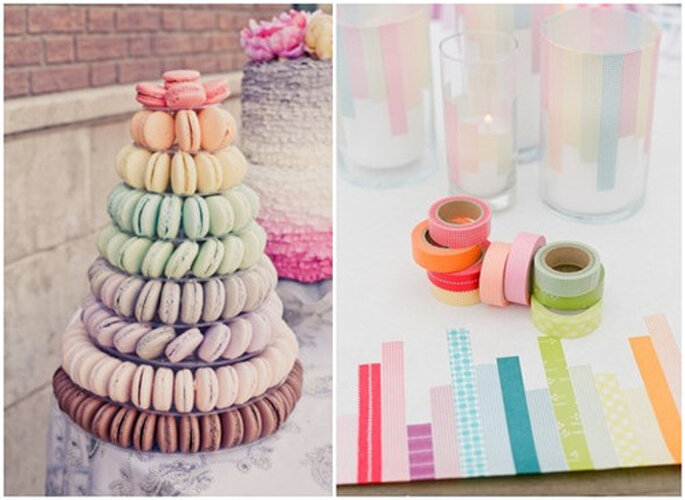 Multicolored macaroons to suit your theme - Photo: Flickr