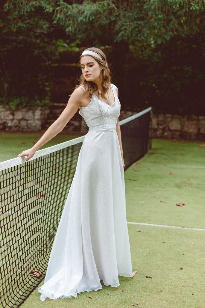 vestido de noiva corte império
