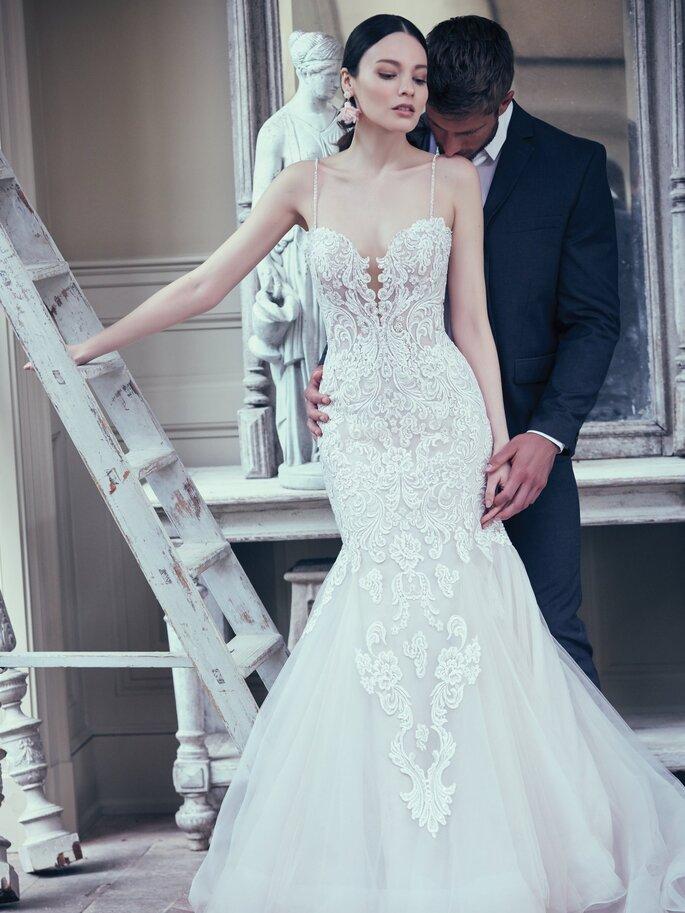 vestido de noiva Corte sereia