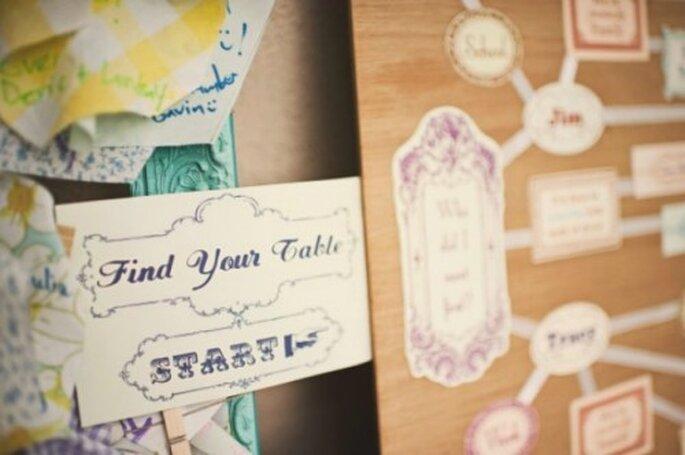 Repas de mariage : on place ses invités à table ou non ? - Source : The Trendy Girl