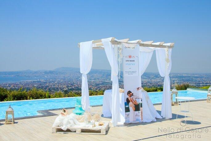 La stupenda piscina panoramica di Villa Andrea d'Isernia - Foto: Nello di Cesare