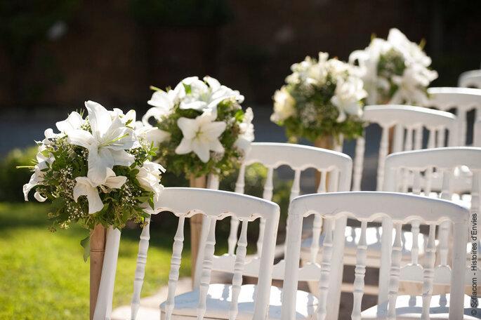 Chaises fleuries