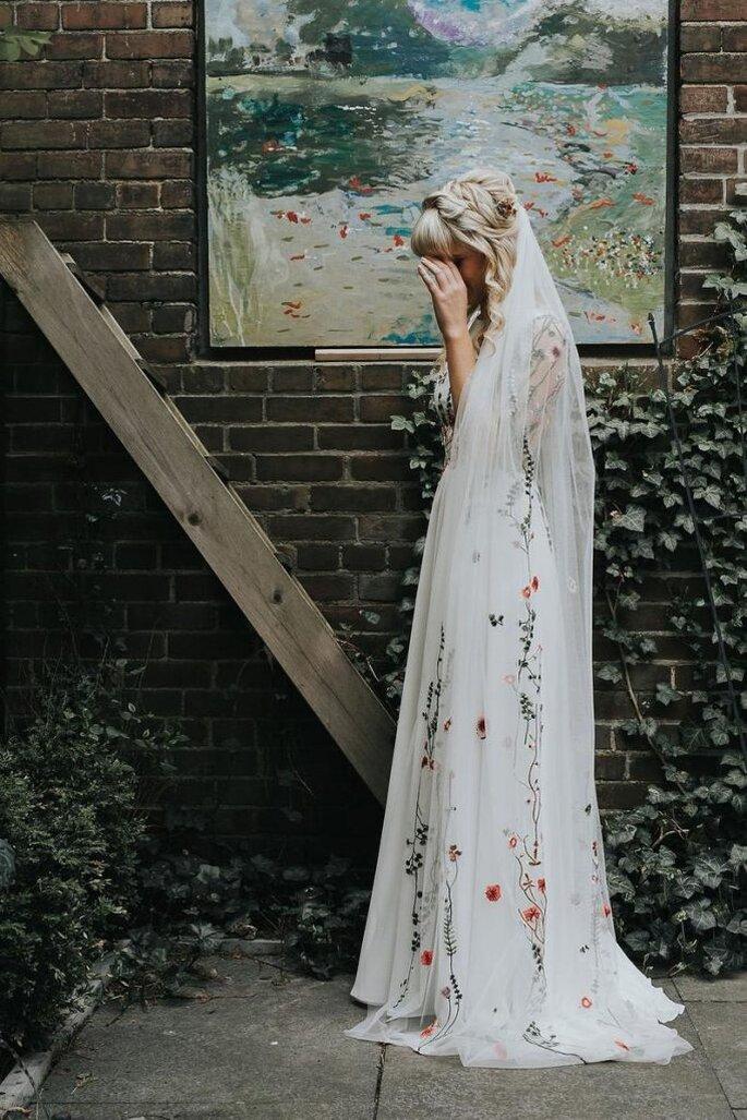Voile de mariée brodée