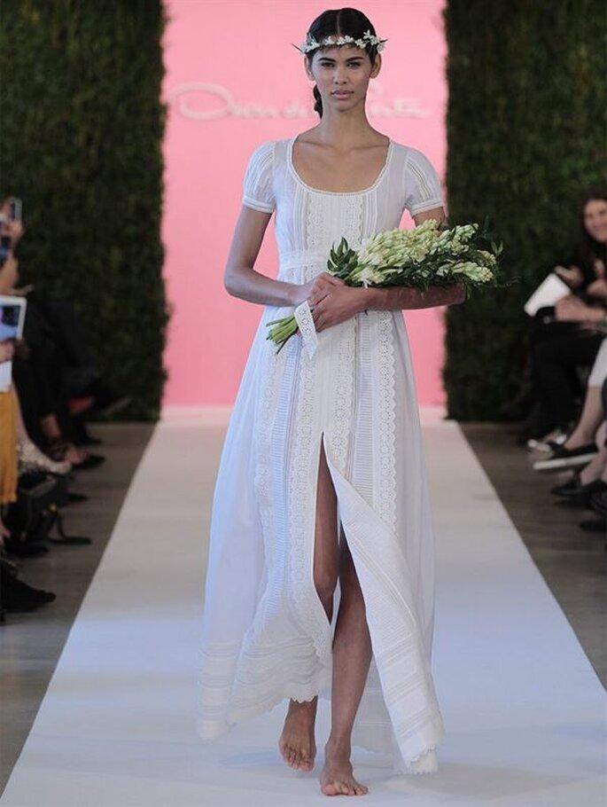 Oscar De La Renta 2015 romantyczna suknia ślubna