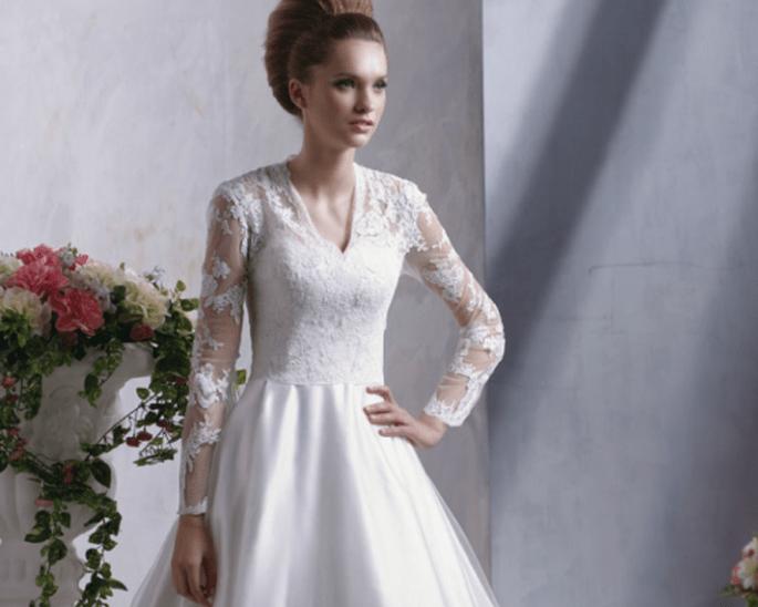 Vestido de encaje clásico, de Anjolique