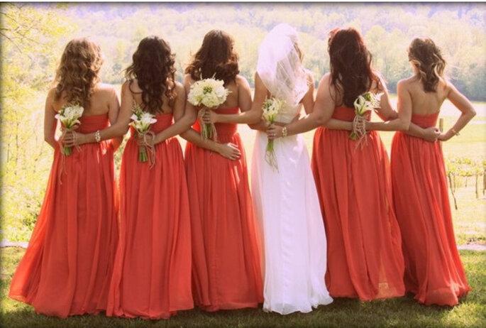 Matrimonio con dettagli arancioni - Foto by Pinterest via Stylemepretty
