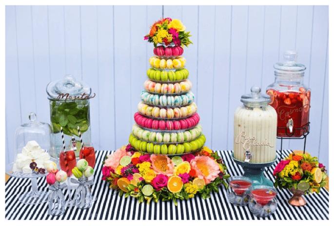 Macarons, el postre más colorido para tu boda - Foto Anneli Marinovich Photography