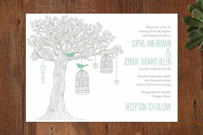 Ilustraciones originales para invitaciones de boda - Foto Minted