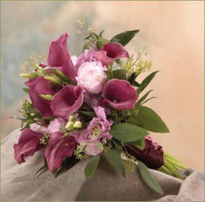 Ramo de novia en color lila