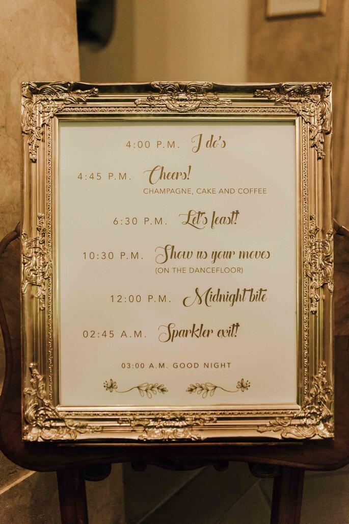 Wedding Sign Programm Hochzeit