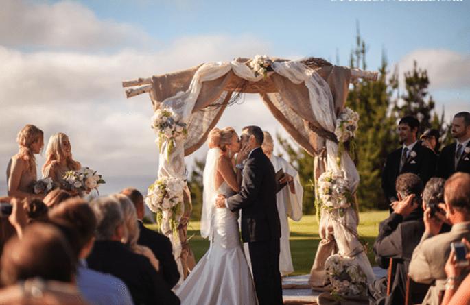 Los besos más románticos en bodas - Foto Danielle Capito Photography